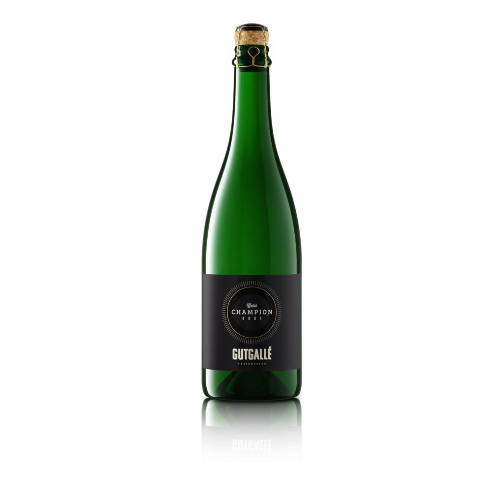 3D Produktvisualisierung einer Champagnerflasche